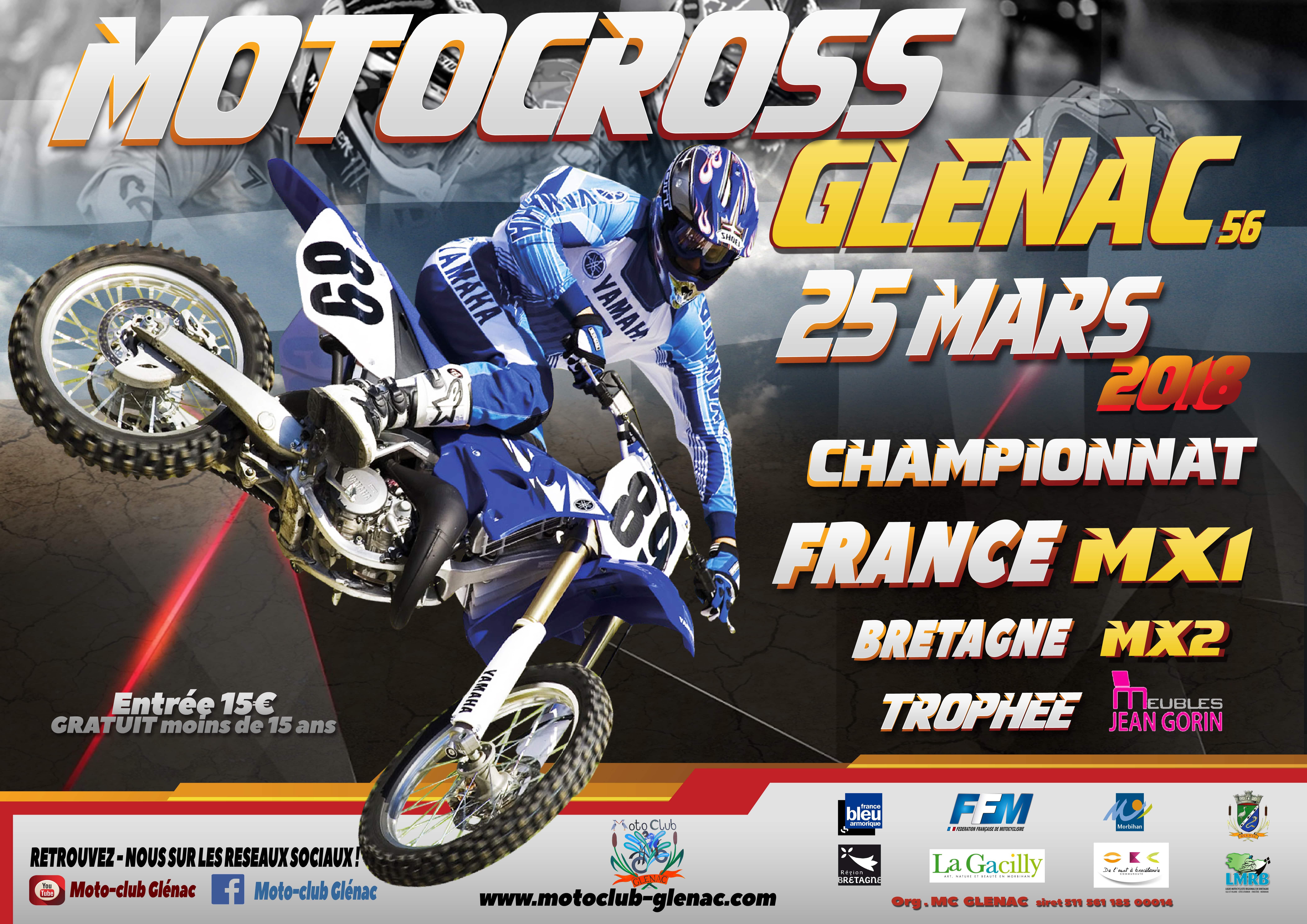 motocross 25 mars 2018