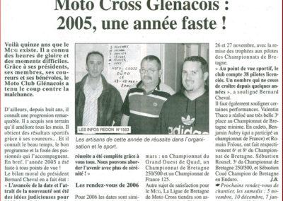 2005 10 29 - Les Infos - une année faste !
