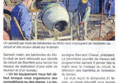 2010 01 07 - Ouest France - Des travaux au terrain de moto-cross