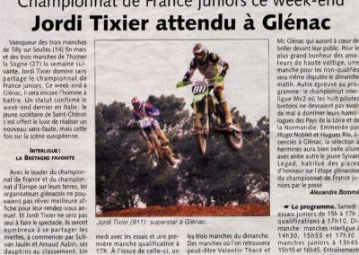 2010 04 05 - Les Infos - Jordi TIXIER attendu à Glénac