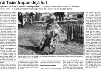 2010 04 17 - Ouest France - Jordi Tixier frappe dèjà fort