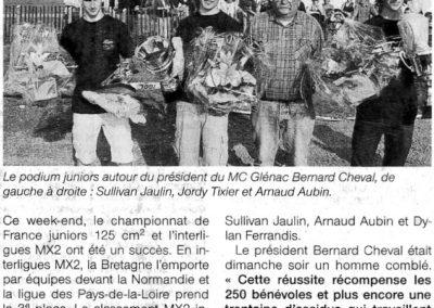 2010 04 20 - Ouest France - 2000 personnes au national juniors de moto-cross