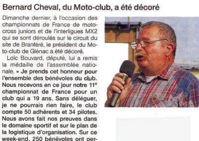 2010 04 21 - Les Infos - Bernard décoré
