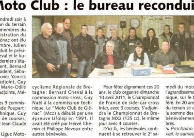 2010 11 06 - Les Infos - Le bureau reconduit