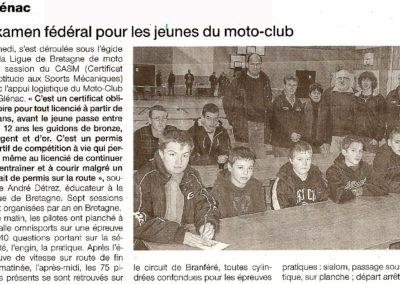 2010 11- Ouest France - Examen fédéral pour les jeunes