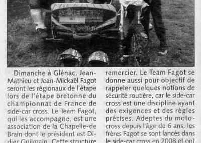 2011 04 06 - Les Infos - Le Team Fagot dans la course