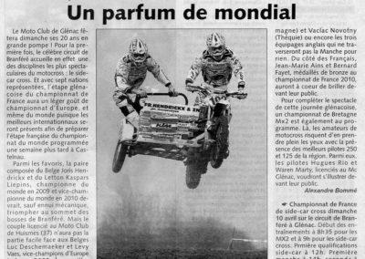 2011 04 06 - Les Infos - Un parfum de mondial