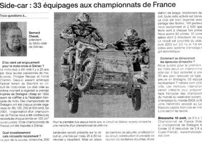 2011 04 08 - Ouest France - Side car 33 équipages au championnat de France