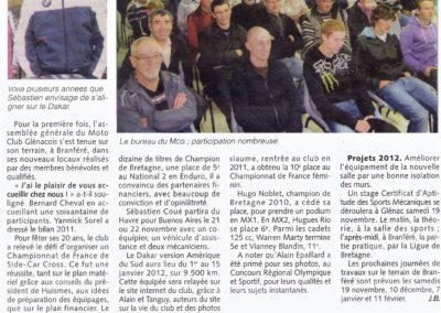 2011 11 09 - Sébastion Coué s'élancera au Dakar !