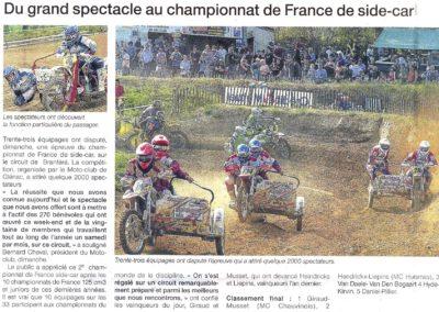 2012 04 17 - Ouest France - Du grand spectacle au championnat de France de side-car