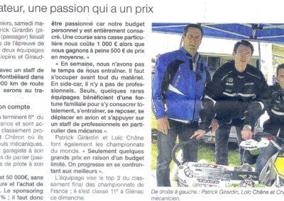 2012 04 17 - Ouest France - pilote amateur, une passion qui a un priox