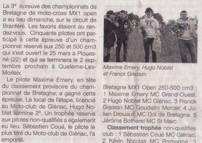 2012 04 18 - Ouest France - Les pilotes locaux sur le podium