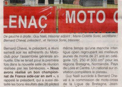 2012 11 13 - Ouest France - de nouveaux locaux et des champions