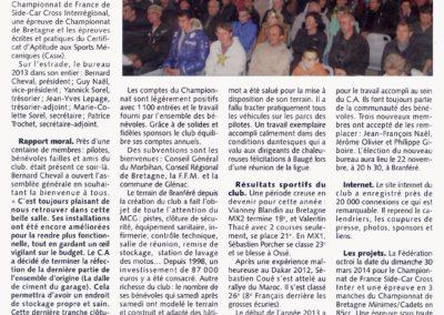 2013 11 19 - Les Infos - Assemblé Générale du moto Club