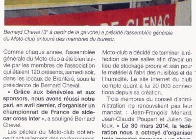 2013 11 19 - Ouest France - des satisfactions