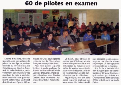 2013 11 20 - Les Infos - 60 pilotes en examen