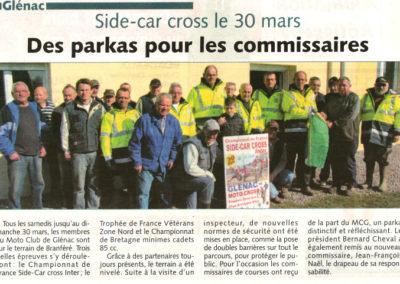 2014 03 05 - Les Infos - Des parkas pour les commissaires