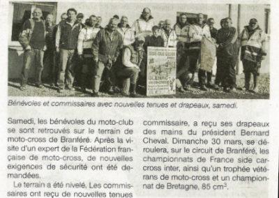 2014 03 11 - Ouest France - Les championnats de France en mars