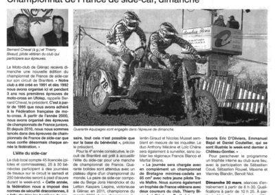2014 03 27 - Ouest France - championnat de France de side-car, dimanche