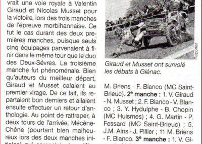 2014 03 31 - Ouest France - Giraud et Musset ont été énormes