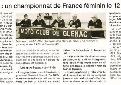 2014 11 08 - Ouest France - un championnat de France féminin le 12 avril