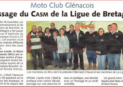 2014 11 19 Les Infos - Passage du CASM de la Ligje de Bretagne