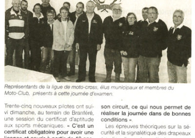 2014 11 19 - Ouest France - Une session d'examen avec la Ligue