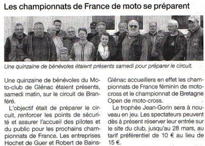 2015 03 20 - Ouest France - Les championnats de France se préparent