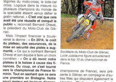 2015 04 08 - Ouest France - Les Filles, une Première en Bretagne