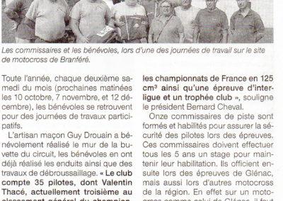 2015 09 19 - Ouest France - Le moto-club compte onze commissaires