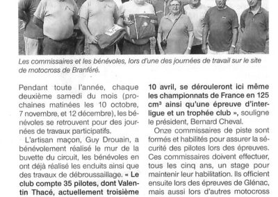 2015 09 20 - Ouest France - Le mto-club compte onze commissaires