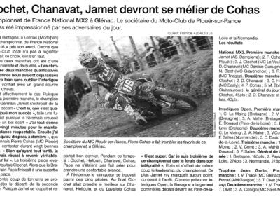2016 04 04 - Ouest France - Clochet, Chavanat, Jamet