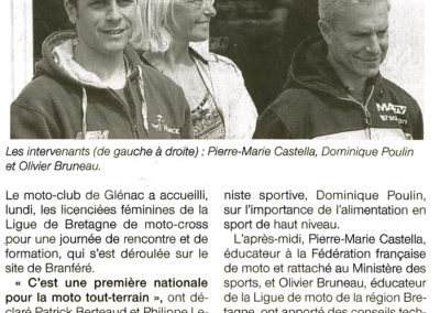 2016 05 19 - Ouest France - Une formation pour les pilotes féminines