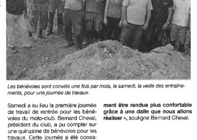 2016 09 12 - Ouest France - Un nouveau chantier