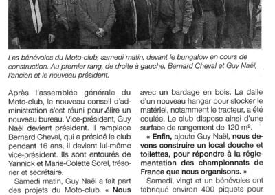 2016 12 12 - Ouest France - Guy NAEL nouveau Président