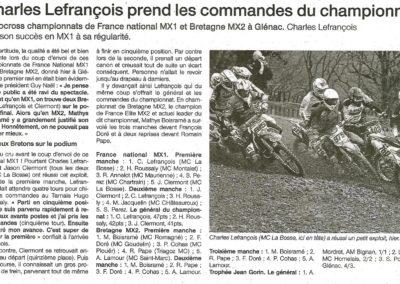 2017 03 27 - Ouest France - Charles Lefrançois