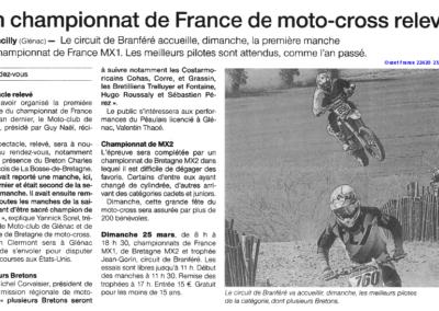 2018 03 23 - Ouest France - Championnat de France relevé