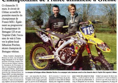 2019 03 27 - Les Infos - Championnat de France à Glénac