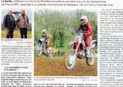 2019 03 30 - Ouest France - Histoire conviviale et familiale