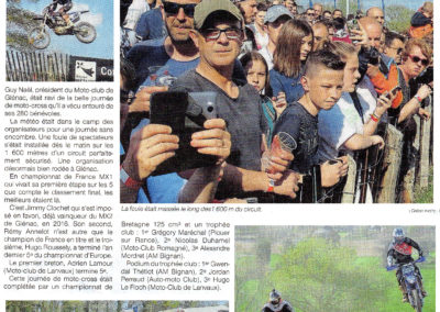 2019 04 02 - Ouest France - Plus de 2000 spectateurs au moto-cross