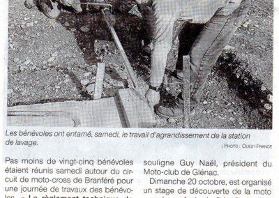 2019 10 15 - Ouest France - Station de lavage en cours d'agrandissement