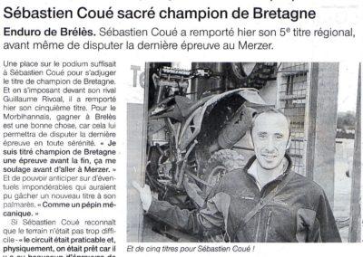 Sébastien COUÉ - OUEST FRANCE 19807 19 10 2009