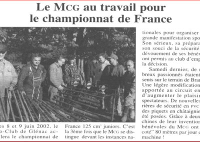 2001 03 15 - Ouest France - Le MCG au travail pour le championnat de France