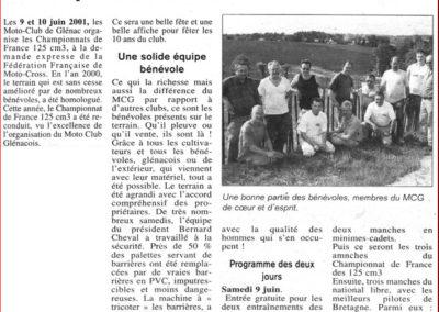 2001 06 10 - Les Infos - Les 10 ans du MCG, championnat de France 125