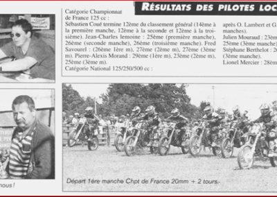 2001 06 10 - Les Infos - Résultats des pilotes locaux