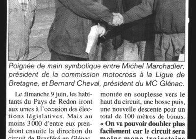 Poignée de main Marchadier Bernard